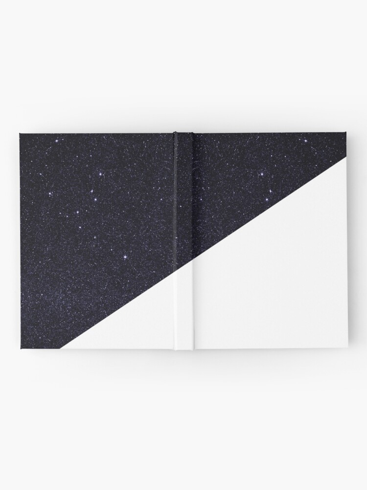 Alternate view of Modern Half Cut Starry Night and White Hardcover Journal