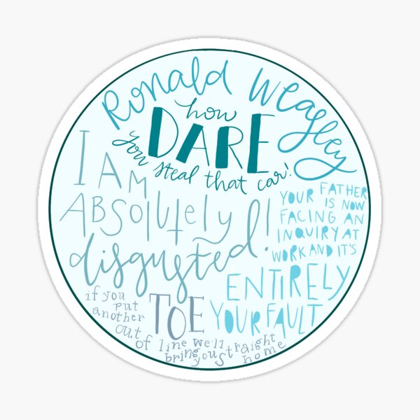 howler quote Sticker