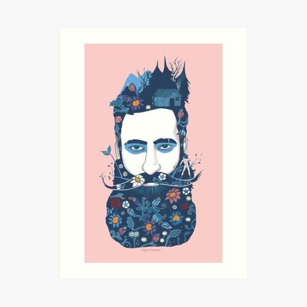 The little beard cutter Art Print