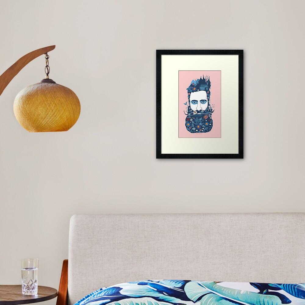 The little beard cutter Framed Art Print