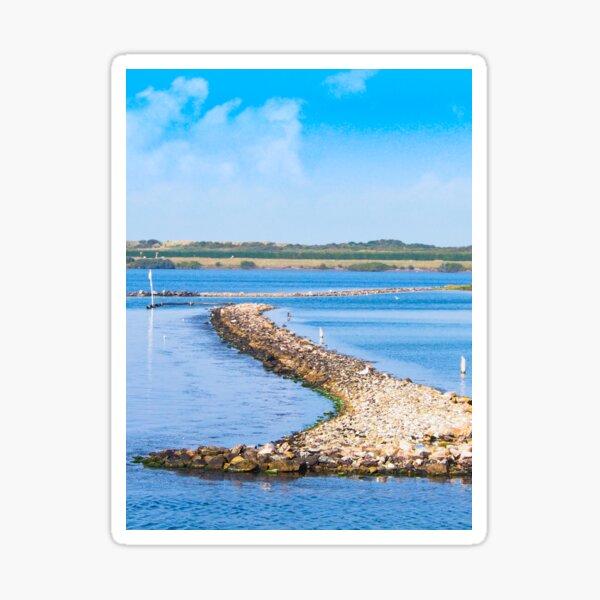 Road into the sea Sticker