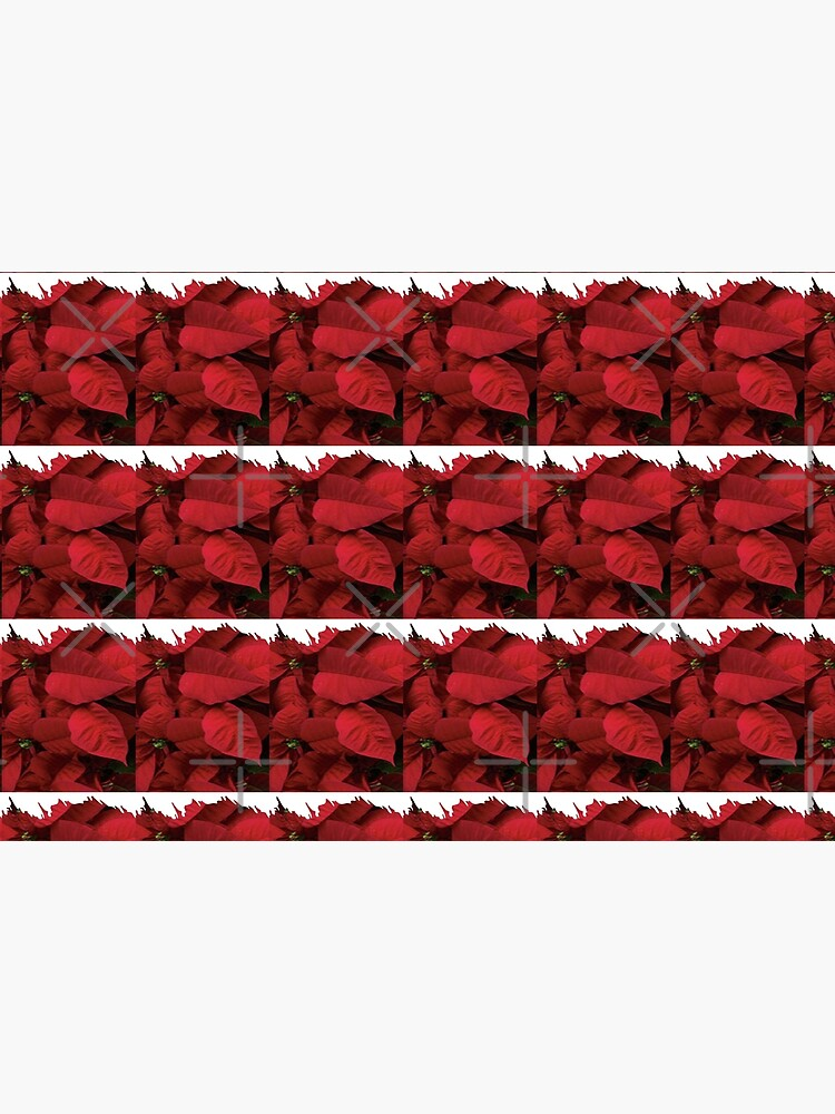 Romantic Red Poinsettia design with a white trim  by Veee8