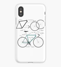Fixie Bike anatomy iPhone Case/Skin