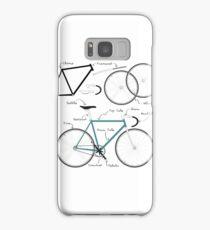 Fixie Bike anatomy Samsung Galaxy Case/Skin