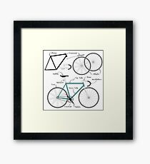 Fixie Bike anatomy Framed Print