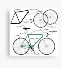Fixie Bike anatomy Canvas Print