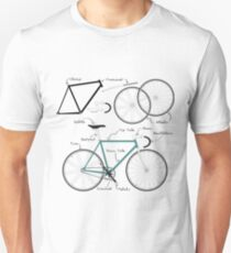Fixie Bike anatomy Unisex T-Shirt