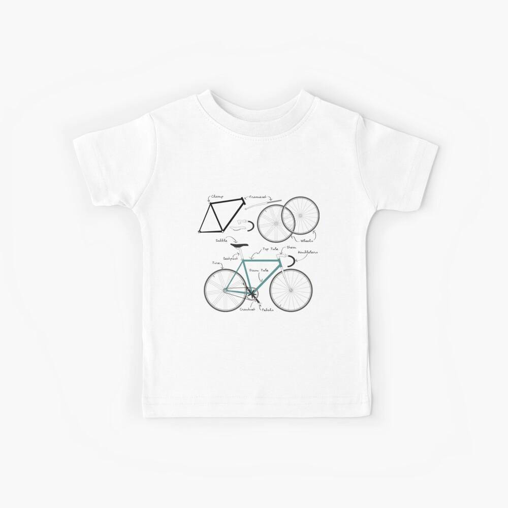 Anatomía Fixie Bike Camiseta para niños