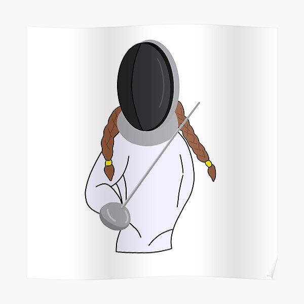 Fencing Girl Poster