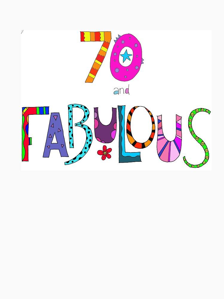 70 und fabelhafter 70. Geburtstag Bunter Entwurf von zanydoodles