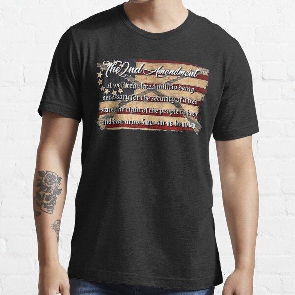 The 2nd Amendment American Flag Essential T-Shirt