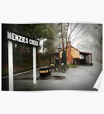 Menzies Creek Station -1605 Poster