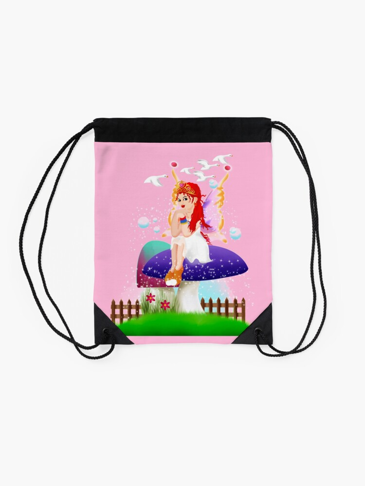 Alternate view of Chime The New Year's Fairy™ Drawstring Bag