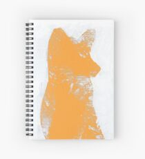 Orange Finger Painted Arctic Fox Spiral Notebook
