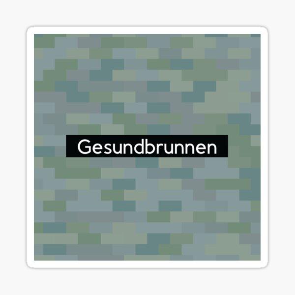 Gesundbrunnen Station Tiles (Berlin) Sticker