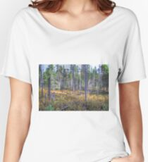 Pine trees in the marsh Relaxed Fit T-Shirt