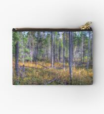 Pine trees in the marsh Zipper Pouch