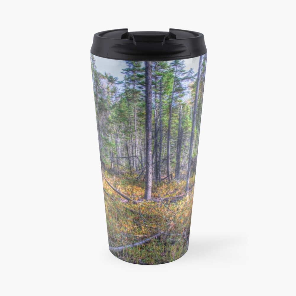 Pine trees in the marsh Travel Mug