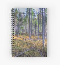 Pine trees in the marsh Spiral Notebook