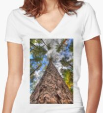 Tall Pine Fitted V-Neck T-Shirt