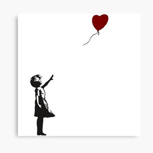Banksy- Girl with Heart balloon.  Canvas Print