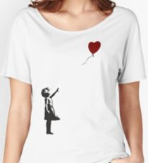 Banksy- Girl with Heart balloon.  Women's Relaxed Fit T-Shirt