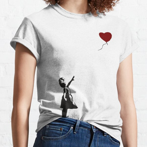 Banksy- Girl with Heart balloon.  Classic T-Shirt