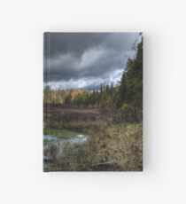 Stormy marsh Hardcover Journal