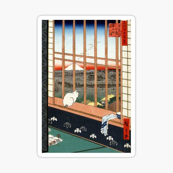 Hiroshige Asakusa Ricefields and Torinomachi Festival Sticker