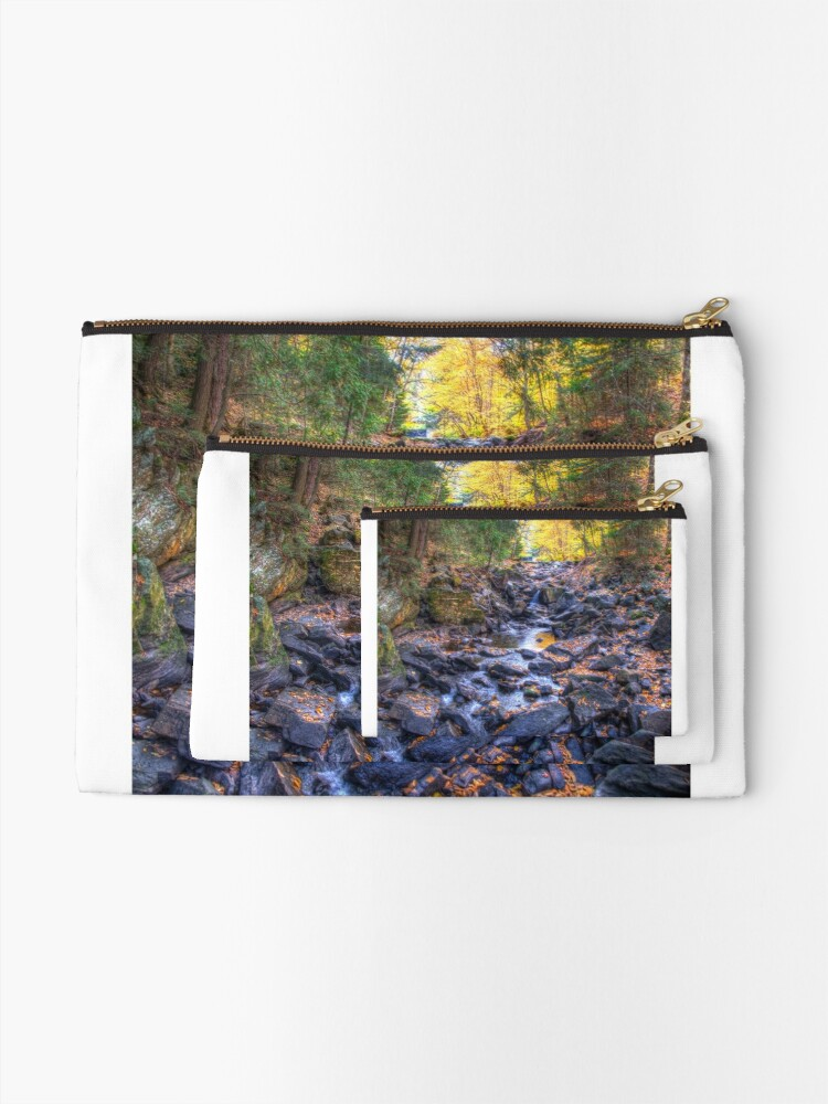Alternate view of Rocky riverbed Zipper Pouch
