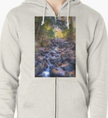 Rocky riverbed Zipped Hoodie