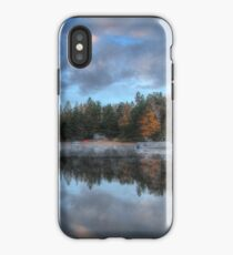 Reflected trees and sky iPhone Case