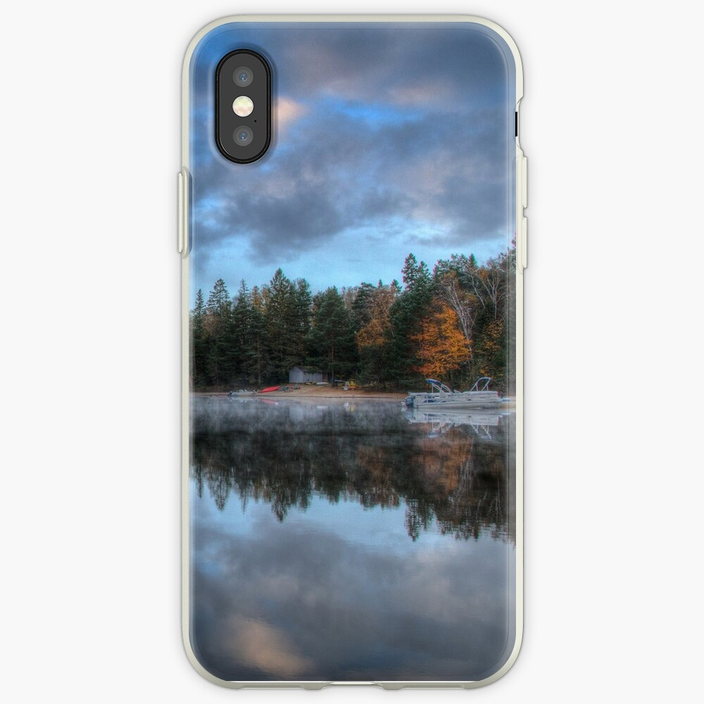 Reflected trees and sky iPhone Case & Cover