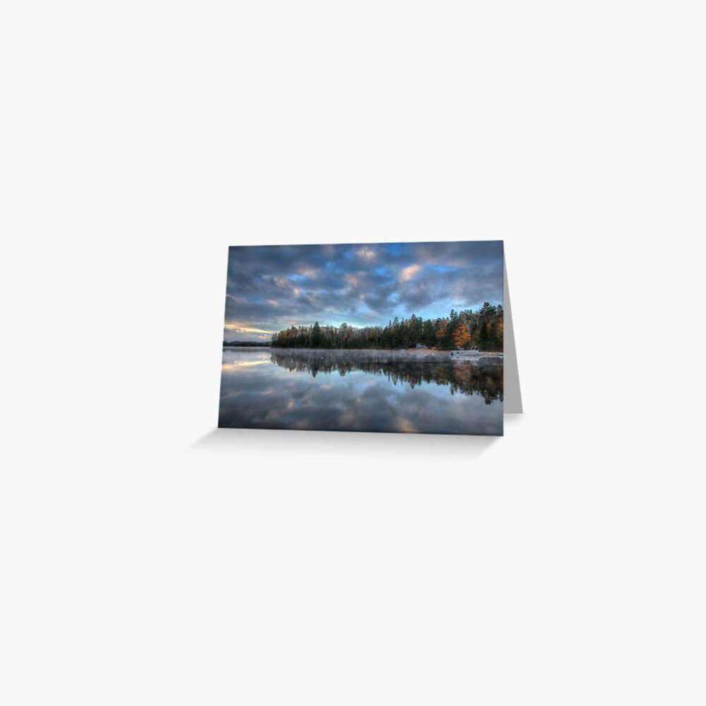Reflected trees and sky Greeting Card