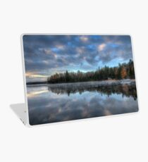Reflected trees and sky Laptop Skin