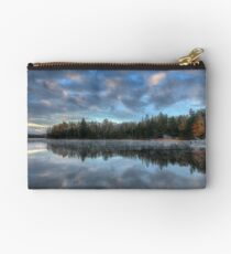 Reflected trees and sky Zipper Pouch
