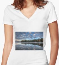 Reflected trees and sky Fitted V-Neck T-Shirt