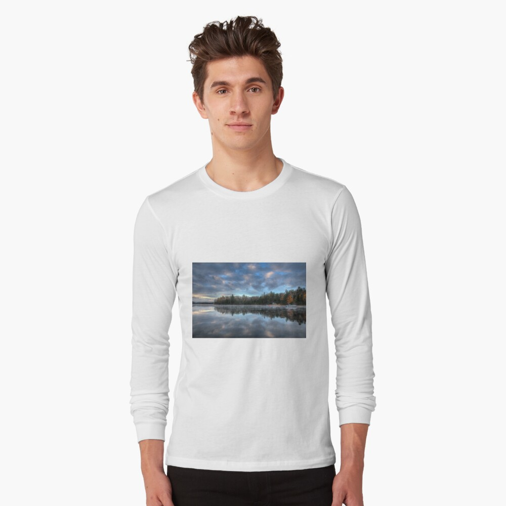 Reflected trees and sky Long Sleeve T-Shirt