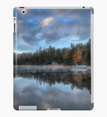 Reflected trees and sky iPad Case/Skin