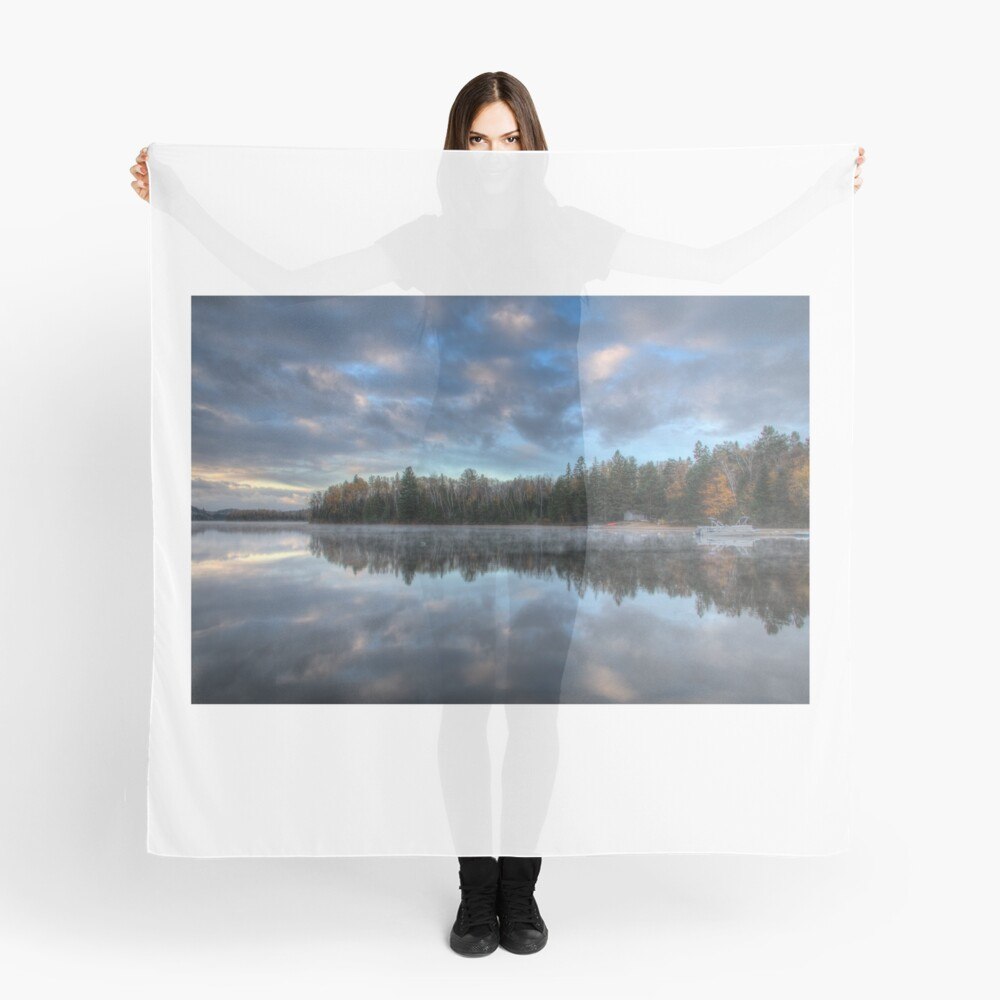 Reflected trees and sky Scarf