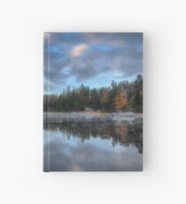 Reflected trees and sky Hardcover Journal