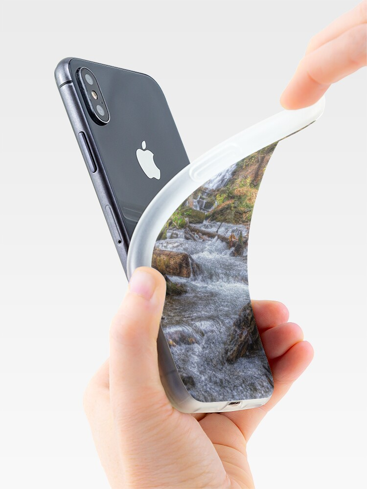 Alternate view of Forest waterfall iPhone Case & Cover