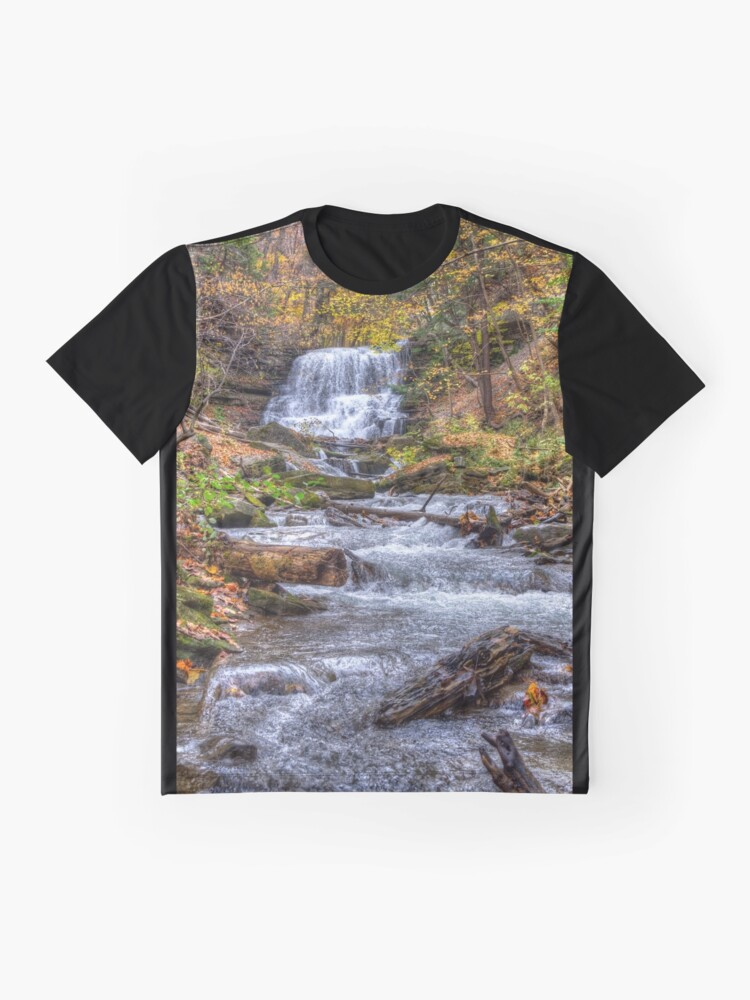 Alternate view of Forest waterfall Graphic T-Shirt