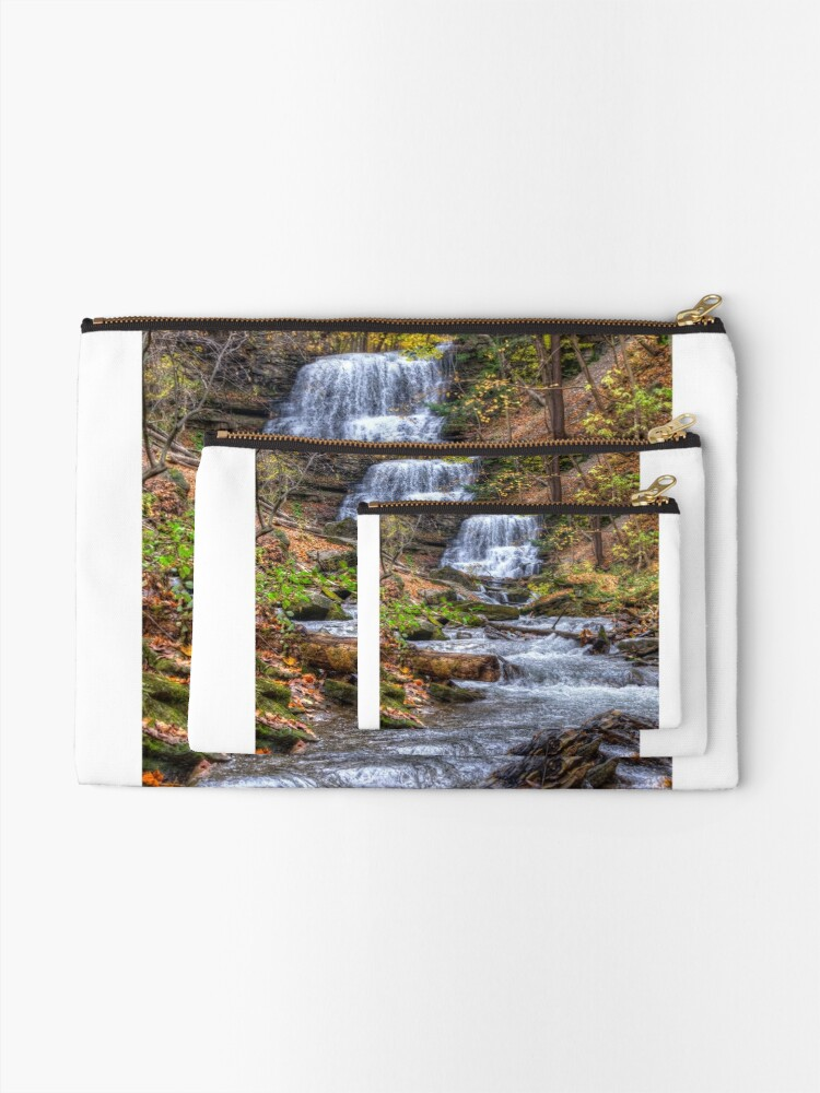 Alternate view of Forest waterfall Zipper Pouch