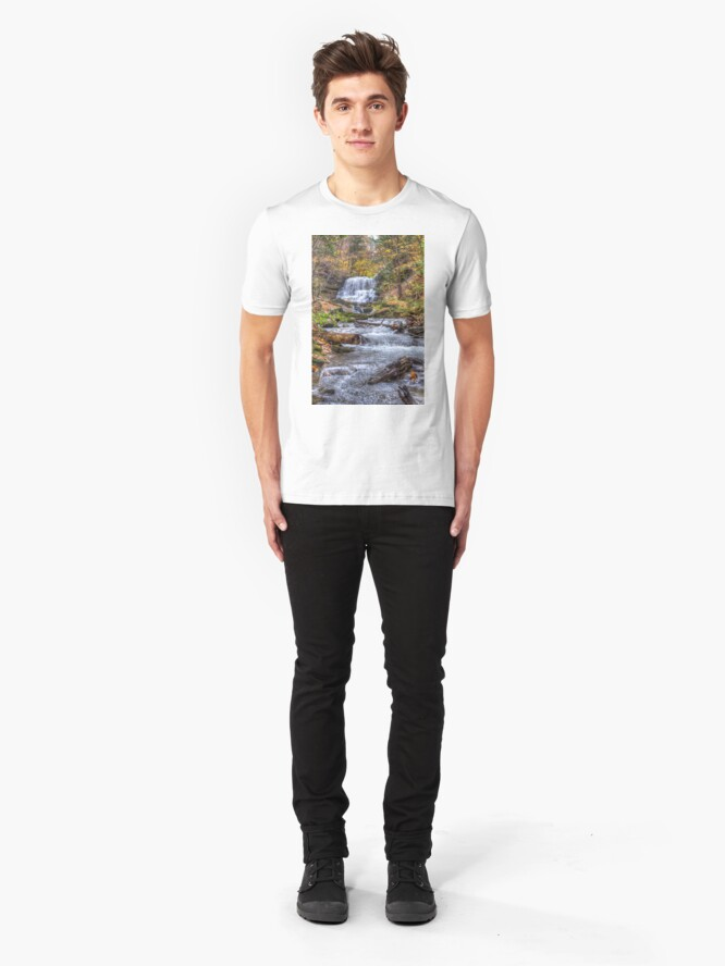 Alternate view of Forest waterfall Slim Fit T-Shirt