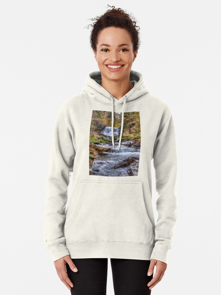 Alternate view of Forest waterfall Pullover Hoodie