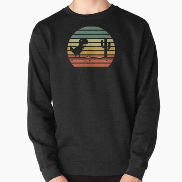 Dino Run Dirty Colorful Pullover Sweatshirt
