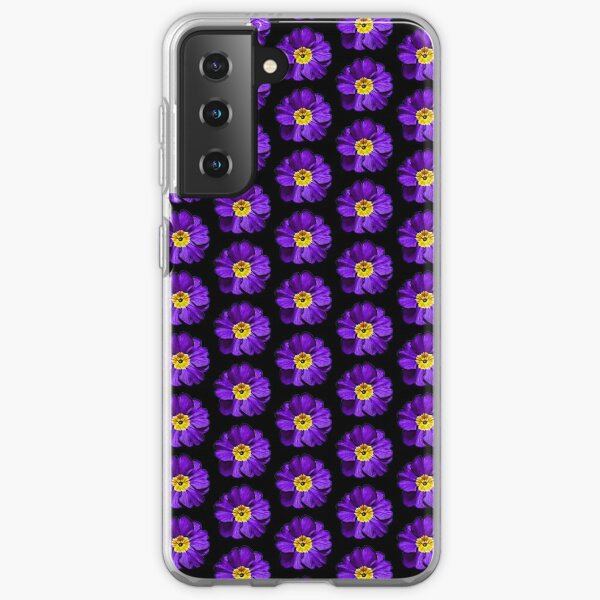 Purple Primula Primrose Oil Painting Style Pattern Gifts Samsung Galaxy Soft Case