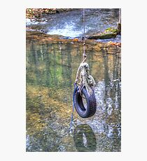 Tire swing Photographic Print