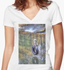 Tire swing Fitted V-Neck T-Shirt